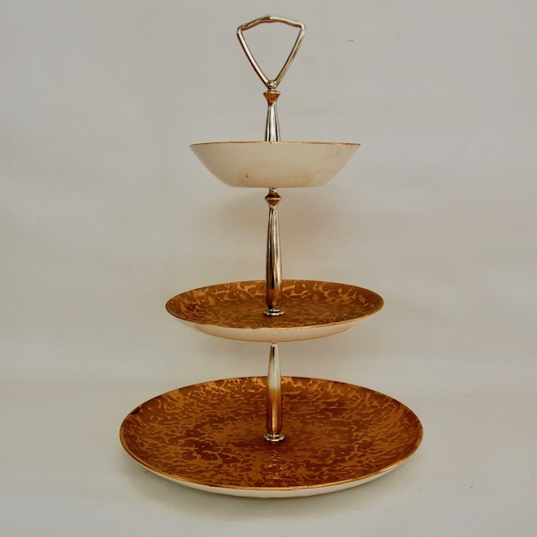 midcentury 3 tiered serving tray